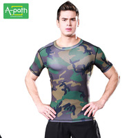 A Path Mens Running T Shirt Sport Fitness Training Tights Sportswear Marvel Underwear Jersey Jogging For