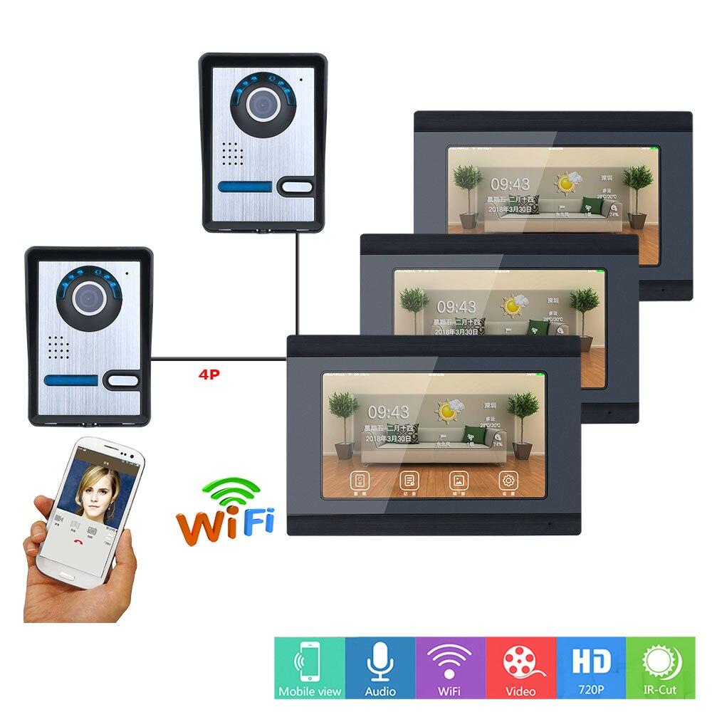 Alpinone 2 à 3 interphone vidéo filaire sans fil Wifi système d'interphone vidéo sonnette Support à distance APP moniteur enregistrement