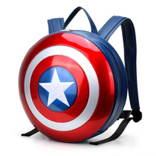 2017 Läder Ryggsäck Mochilas Age Of Ultron Kapten America Hård Plast Shield Field Pack Super Hero Ryggsäck Stor Storlek 43cm