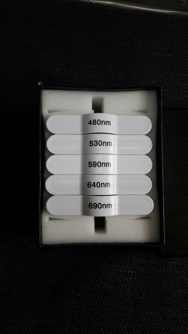 690/640/590/530/480nm wavelength hair remove ipl E-light handle filter