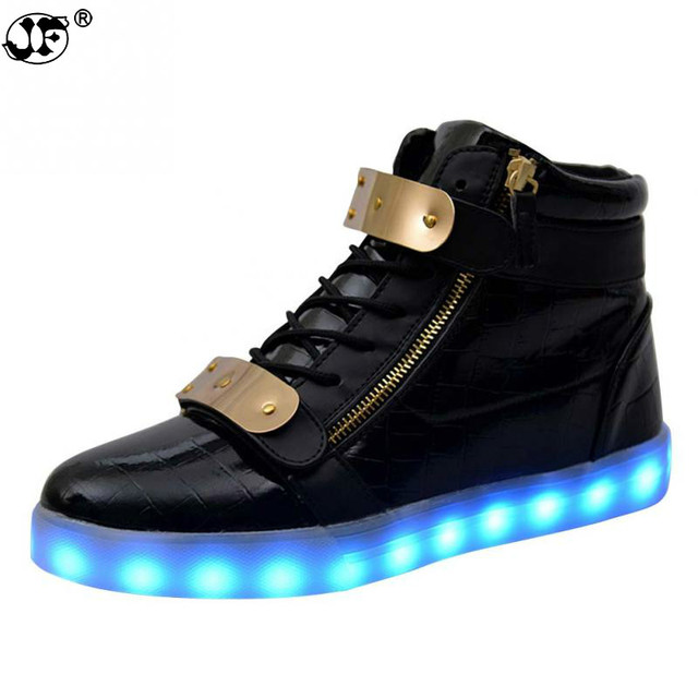 1d9c3f2602c09 Men USB Charging High Top Luminous LED Light Shoes 7 Colors Flashing Casual Glowing  Light up Shoes for Adults866