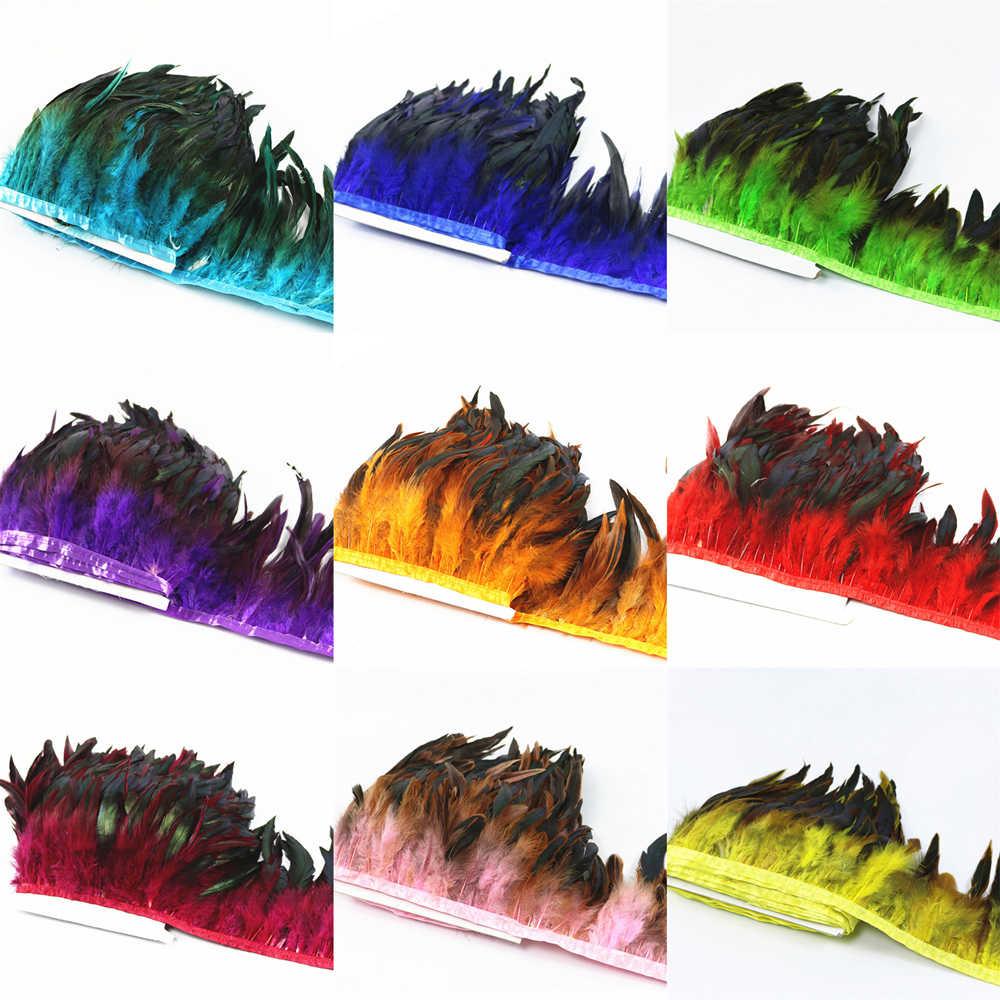 6879c16a1 Venta caliente 1 metro calidad pollo Gallo plumas de la cola Trims Ribbons  10-15 CM de tira para vestido falda fiesta ropa de hacer