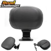 Motorcycle Black Rear Backrest Seat Sissy Leather Driver Backrest Pad For Honda VTX1300