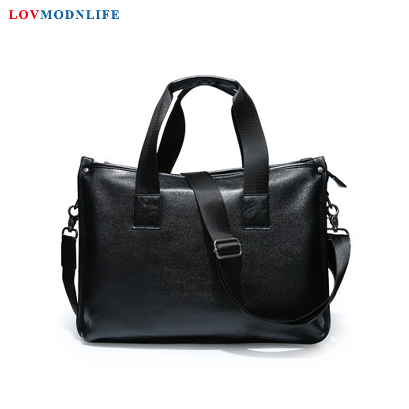 Men's Business Leather Messenger Bag Man Handbags Mens Briefcase With Handle Laptop Shoulder Bag Male Casual Portfolio Tote Bags