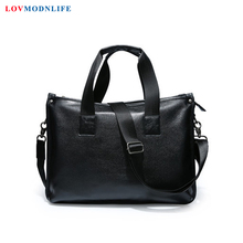 Men's Business Leather Messenger Bag Man Handbags Mens Briefcase With Handle Laptop Shoulder Bag Male Casual Portfolio Tote Bags