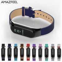 Metal Steel Case Mi Band 3 Bracelet Strap Leather Xiaomi Mi Band 3 Miband3 Smart Wristband Strap Miband 3 Replace Wrist Strap