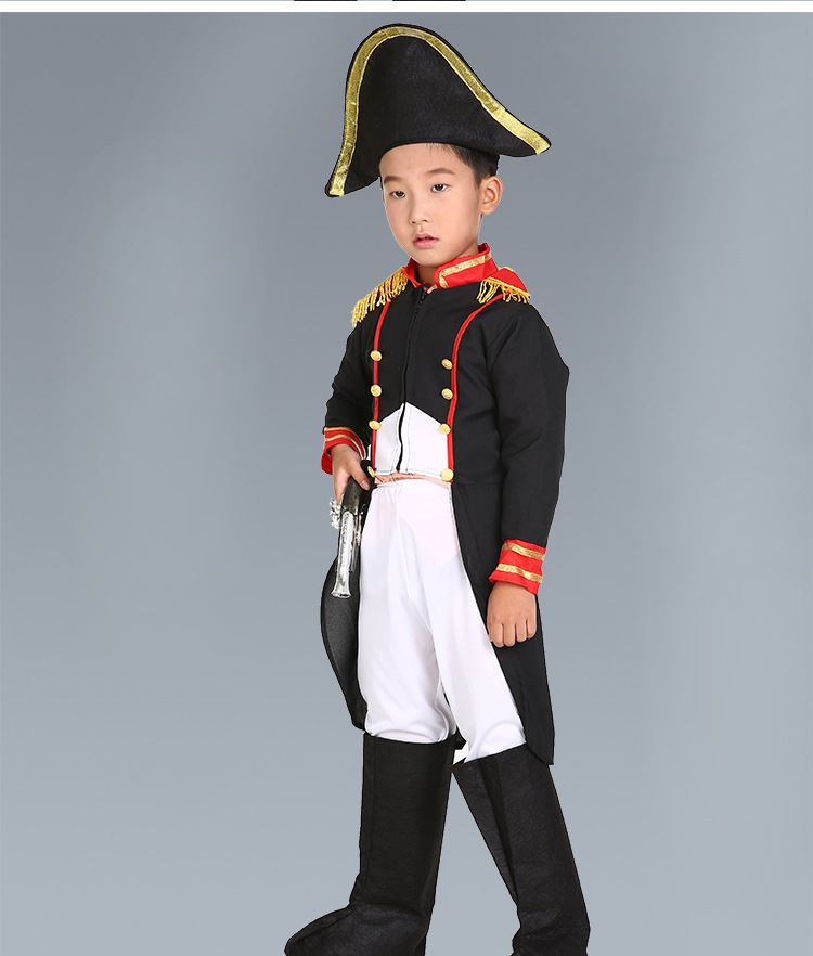 kids Carnival Clothing Child Boy colonel  Movie Character officer Cosplay Fancy Dress warrior Halloween Party Costumes