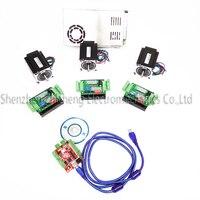 CNC mach3 USB 4 Axis Kit, 3pcs TB6600 stepper driver+ mach3 USB stepper motor controller board+ 3pcs nema17 motor +power supply