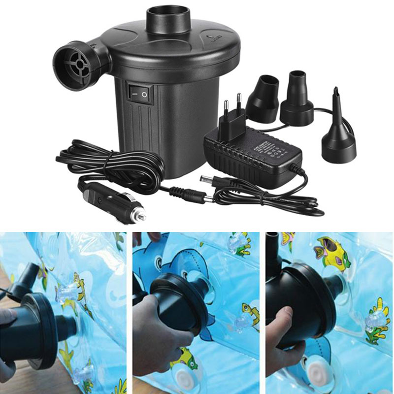 Hot Portable Auto DC Electric Air Pump Quick-Fill Home Car Airpump For Inflatables Mattress/Raft/Bed/Boat/Pool Swimming Ring JLD