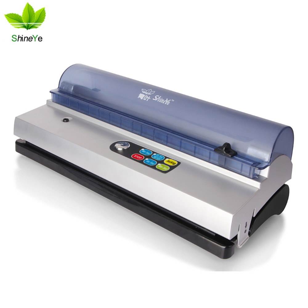 ShineYe DZ-320D Automatic 220V/110V Household Food Vacuum Sealer Packaging Machine Vacuum Packers With Free Gift bags Kit