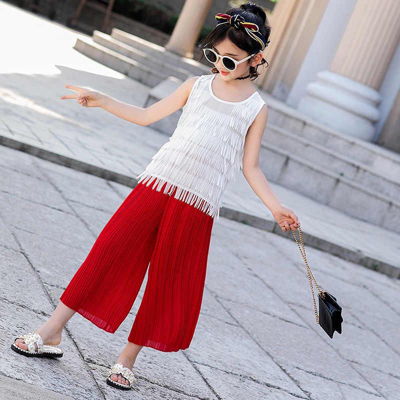 Для девочек летняя одежда 2019 Новая мода Сексуальная Маленькая детская одежда из шифона для знаменитости костюм модной летней моды бесплатно posta