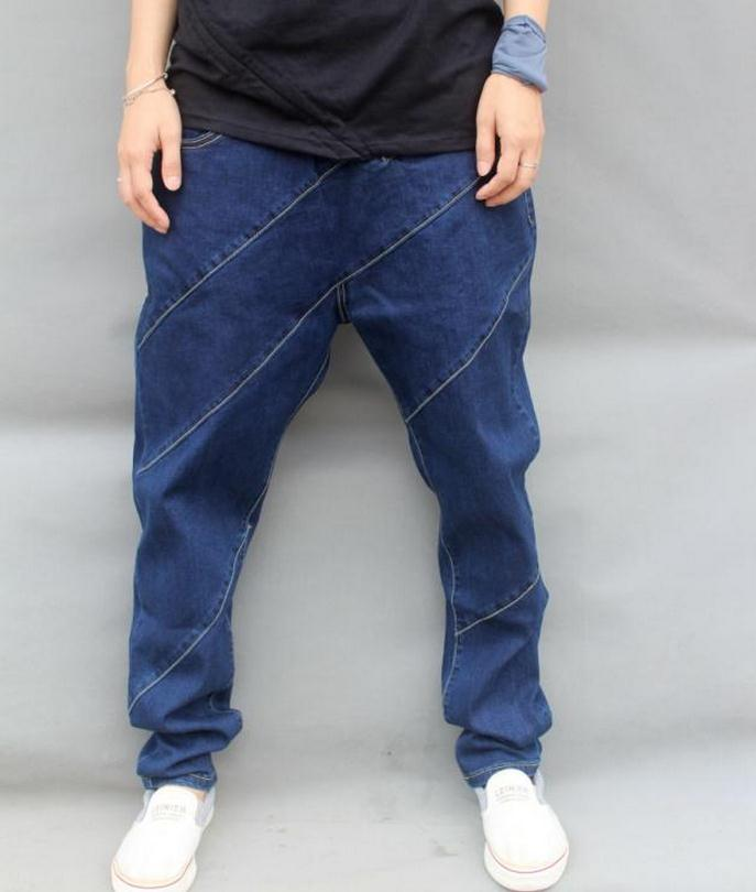2015 new mens large size Cotton brand hip hop fashion casual jeans Loose elastic jeans size