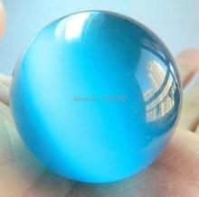 40mm Blue Opal Chalcedony Round Shape Loose Beads Women Fashion Beautiful Jewelry Making Design 2 pcs/lot