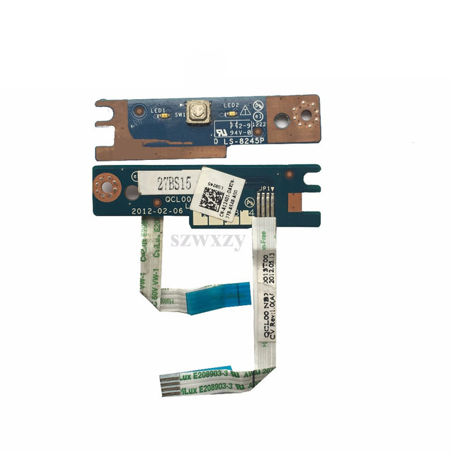 Original For DELL 15R 7520 5520 Power Button Switch BOARD QCL00 10 LS 8245P