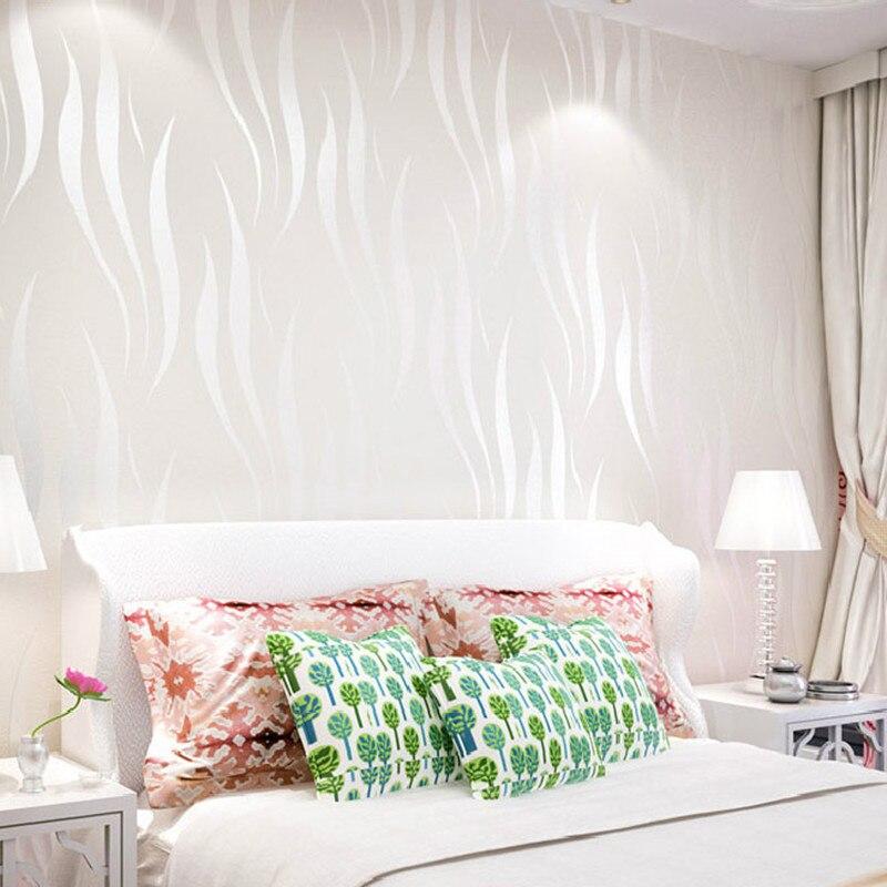 Vague courbe rayure 3D non-tissé papier peint pour salon chambre fond papier peint décor à la maison - 3
