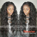 Loose Curl Black Colro Heat Resistant Synthetic Wigs Hot Hairstyle Long Curly Synthetic Lace Front Wig With Baby Hair