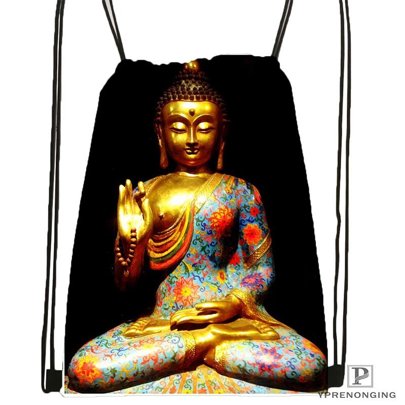 Custom buddha quote 1 Drawstring Backpack Bag Cute Daypack Kids Satchel Black Back 31x40cm 20180611 02
