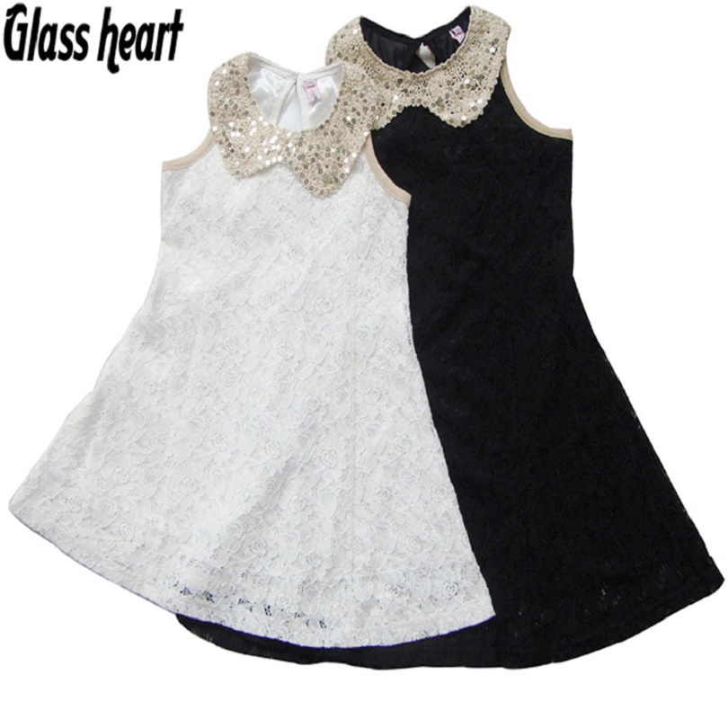 Lace Deguisement Fille Enfant Girl Dress Kids Clothes Summer Sequin Collar Baby Party Evening Dress Jurken Children Clothing little baby girls dresses summer 2015 customes kids clothes children dress toddler clothing lace red deguisement vetement enfant