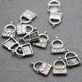 10PCS Hot wholesale Snap alloy Pendant Fittings for DIY Accessory lock Machining metal parts Findings components Metal 12*18mm