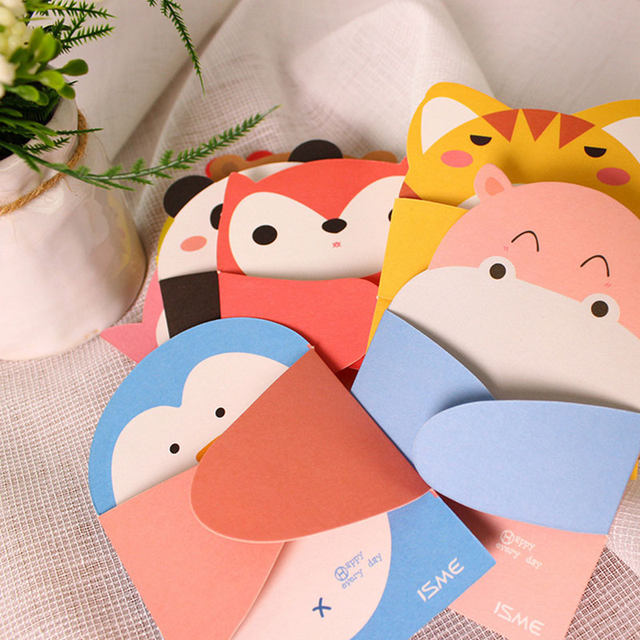 Online shop 1 pcs embrace of love cartoon animal small card with 1 pcs embrace of love cartoon animal small card with envelope kawaii message birthday greeting cards holiday universal kids gift m4hsunfo