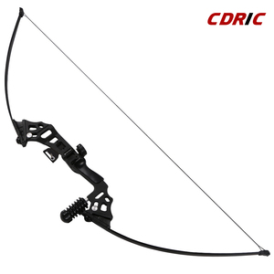 Image 2 - For starter 40lbs fishing bow aluminum recurve long bow straight bow