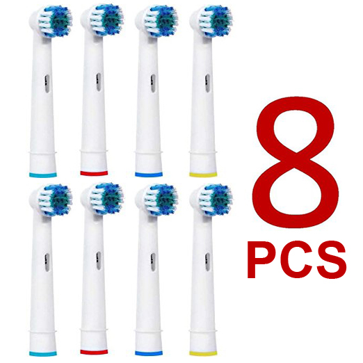 8pcs Replacement Brush Heads For Oral-B Electric Toothbrush Advance Power/Vitality Precision Clean/Pro Health/Triumph/3D Excel 1