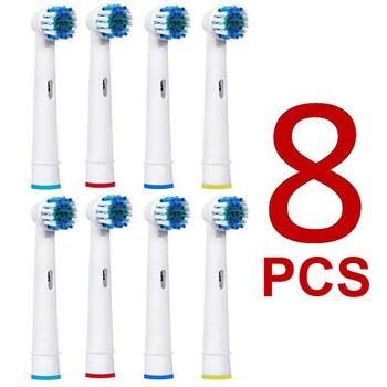 8 szt Wymienne główki do szczoteczki elektrycznej oral-b Advance Power Vitality precyzyjnym czyszczeniem Pro Health Triumph 3D Excel tanie i dobre opinie Z tworzywa sztucznego Główka szczoteczki do zębów dla dorosłych