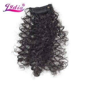 Image 5 - Lydia 8 sztuk/zestaw 18 klipów w treski włosów 6 Cal naturalne kręcone syntetyczne żaroodporne przedłużanie włosów wszystkie kolory są dostępne