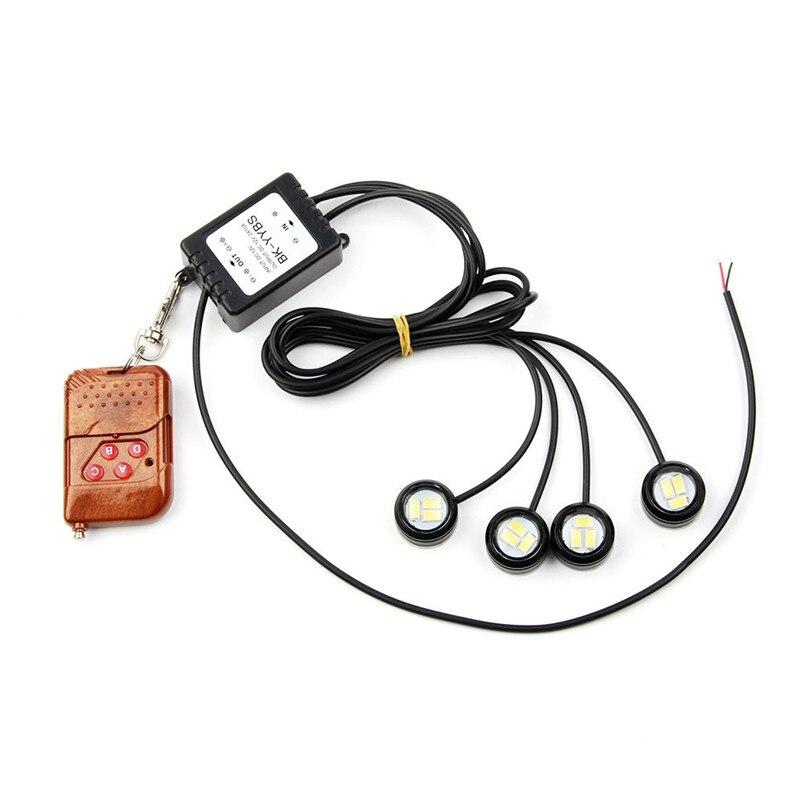 4x3W Strobe Flash Eagle Eye LED Car Light Lamp+Wireless