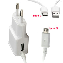 2A Portable Wall Micro USB Mobile Phone Charger+Type C USB Cable For Motorola Moto Z Play/Z2 Force,Moto X4/X(2017),For LG V30