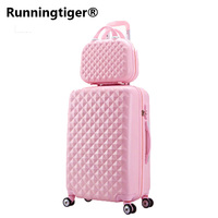 Travel suitcase set Rolling Luggage set Spinner trolley case 20 boarding wheel Woman Cosmetic case carry on luggage travel bags