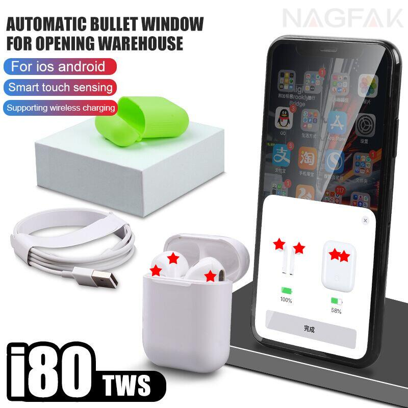 I80 TWS Pop up 1:1 réplique Bluetooth 5.0 casque 6D basse contrôle tactile écouteur sans fil PK i15 i10 i21 i50 i30 i20 i60 i9s TWS