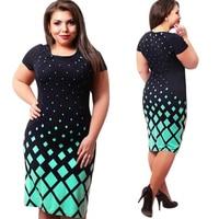 Summer Elegant Sexy Casual Dress Celebrity Style Fashion Geometric Knee Length Bodycon Slim Business Party Dress
