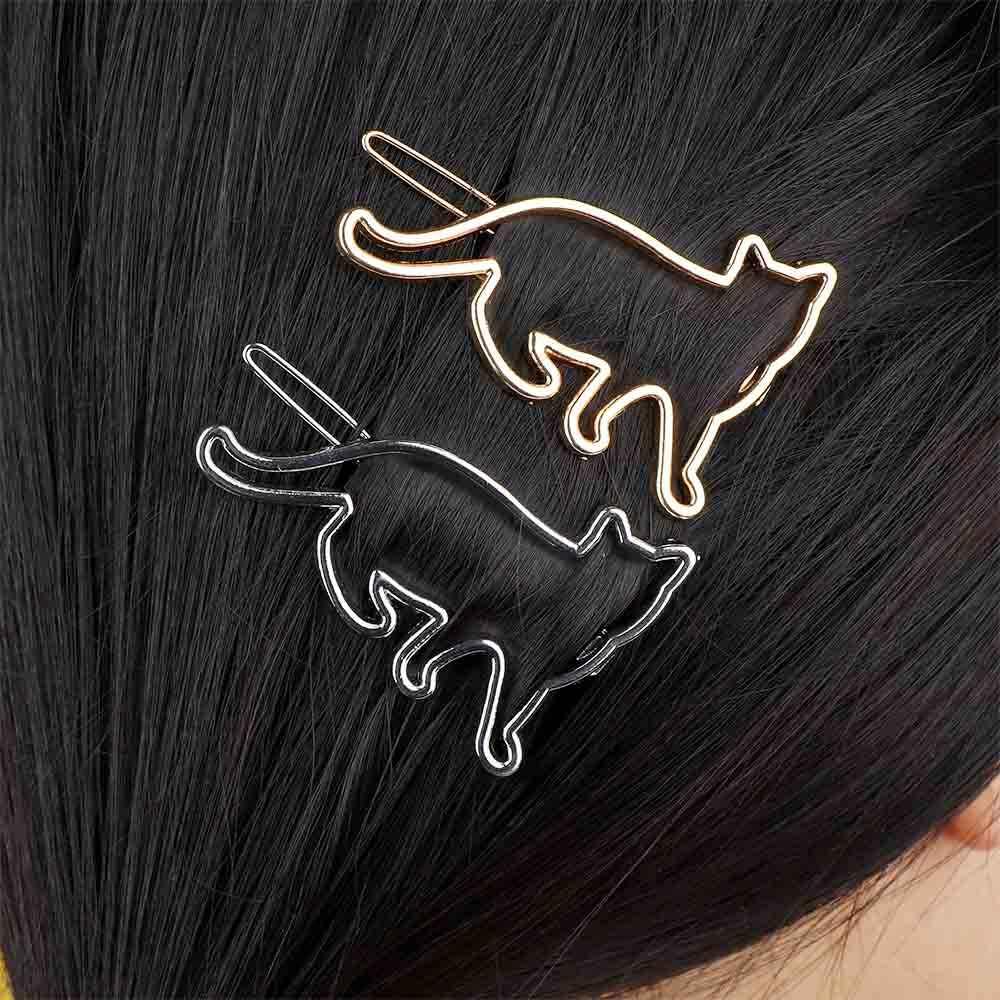 Модные креативные заколки для волос с кошачьим котом в форме ножниц, заколки для волос для женщин из металлического сплава со звездами, заколки для волос, головные уборы