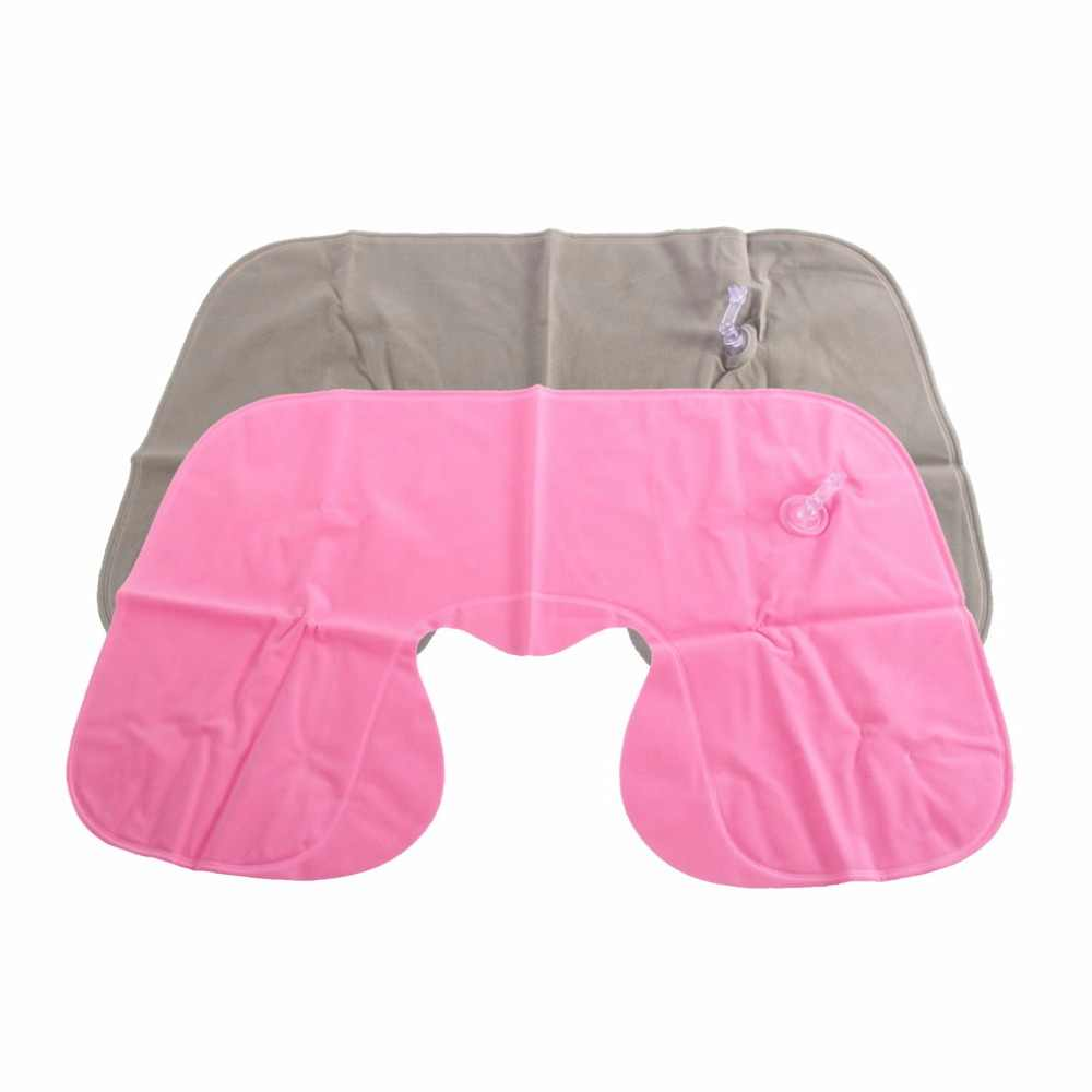 1 pc U Neck Inflatable Pillow Air Cushion Neck Rest U-Shaped Compact Plane Flight Travel Pillows Home Textile Drop Shipping