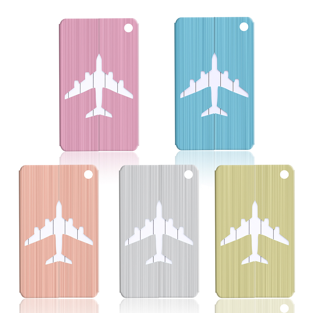 Aluminum Alloy Cruise Aircraft Luggage Tag Baggage Label Travel Suitcase Identifier With Key Chain Ring Outdoor Tool