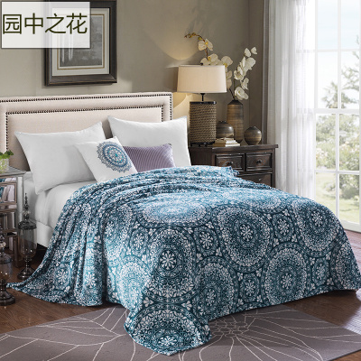 home textile fleece blanket king size super warm soft blankets throw on sofabed - King Size Blanket