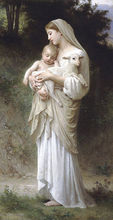 Free shipping famous William Adolphe Bouguereau production Innocence giclee print on canvas