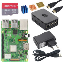 Asli Inggris Raspberry Pi 3 Model B + dengan 1.4 GHz Quad-Core 64 Bit Prosesor WiFi & Bluetooth + ABS Kasus + Adaptor Daya Pi 3B + Kit(China)