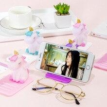 Unicorn Lazy Mobile Phone Stand Creative Multifunction Desktop Car Adjustable Phone Holder Cute