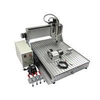 1.5KW 스핀들 cnc 밀링 머신 6090  4 축 금속 커팅 머신 미니 cnc 6090  러시아에 무료 세금