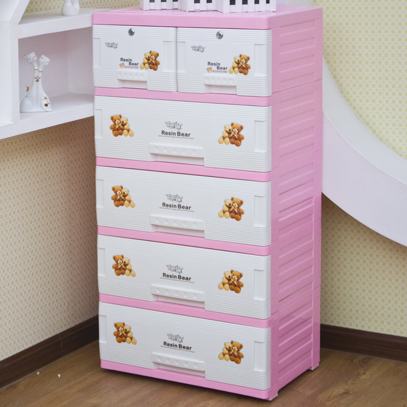 Children love to increase Na parts plastic drawer lockers baby ...