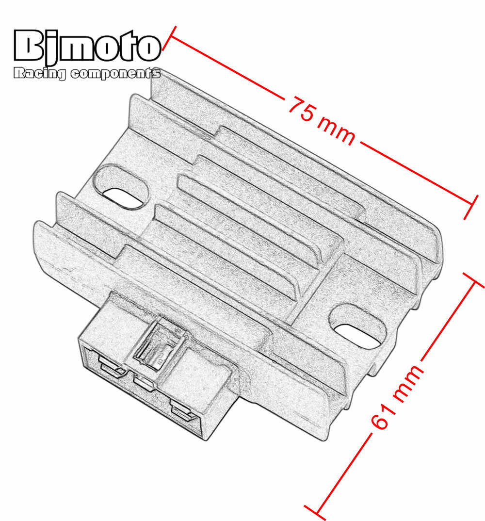 bjmoto motorcycle regulator rectifier for yamaha 2d0 h1960 00 00 xt125r xt125x xtz125e [ 1000 x 1074 Pixel ]