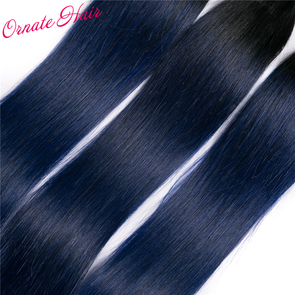 Ornate Straight Hair 3 Bundles Peruvian Hair Extension Two Tone Human Hair Weave Ombre Hair Bundles 12-24 Inch Free Shipping