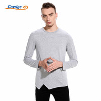 Covrlge 2018 Men Long T Shirt Soft Stretchy British Style Hip Hop T Shirt Men Streetweer