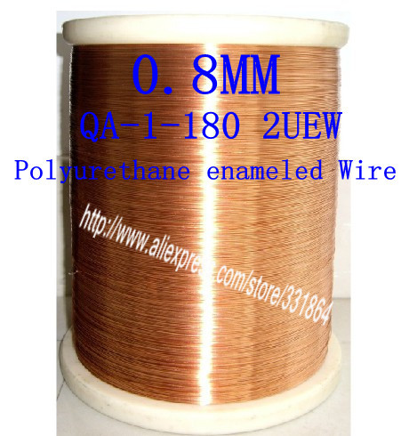 0.8mm *20m  pcs  QA-1-155 2UEW  Polyurethane enameled Wire