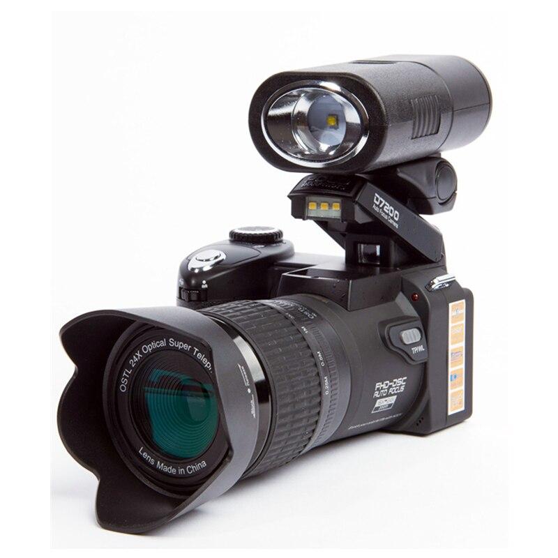 2018 HD JOZQA POLO D7300 appareil photo numérique 33 millions de pixels Auto Focus professionnel appareil photo vidéo reflex 24X Zoom optique 3 objectif HD