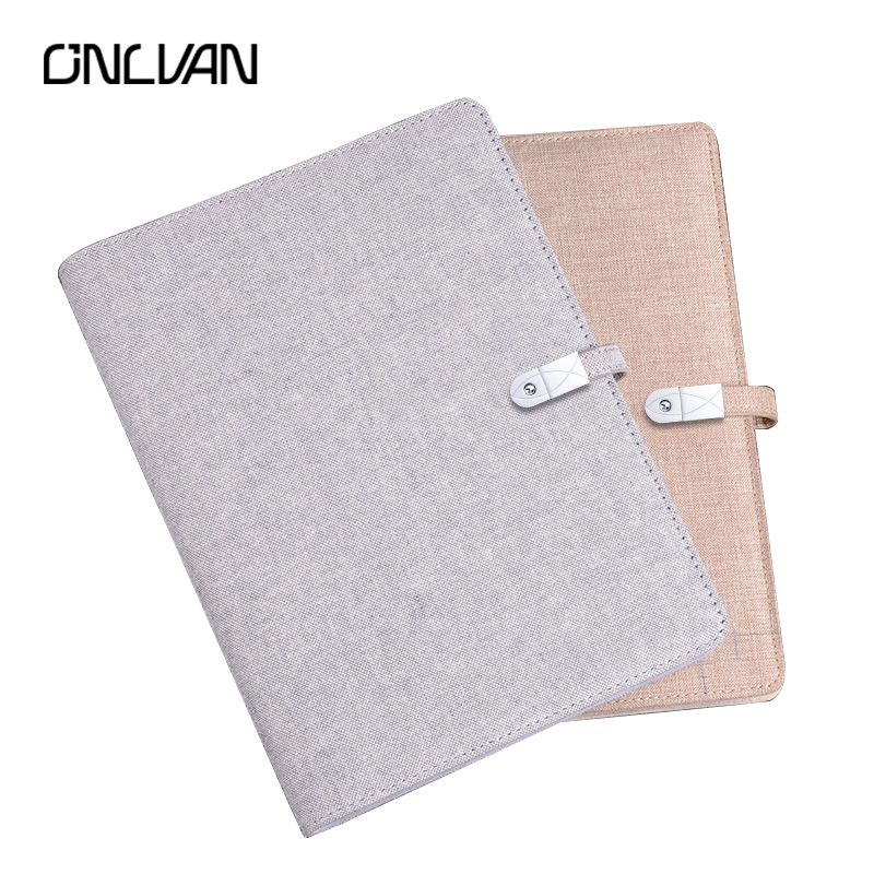ONLVAN Creative Notebooks 16GB USB with Phone Removable Power Unique Design High Quality Cotton and Linen Travel Planner 2018