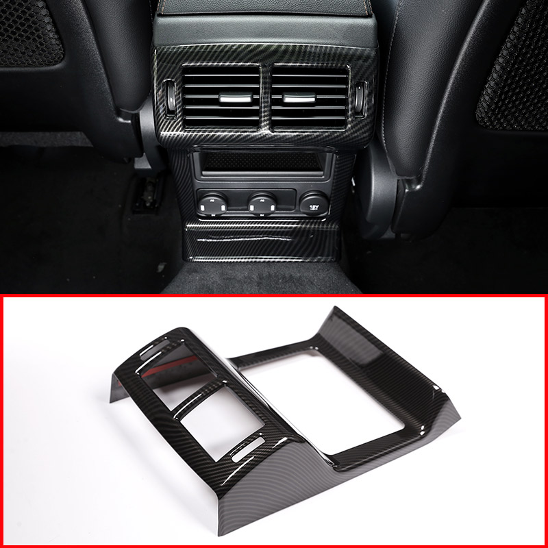 Carbon Fiber Style Rear Seat Air Conditioning Outlet Frame Cover For Jaguar F Pace f pace