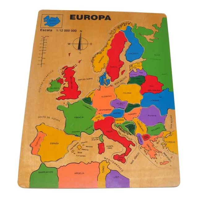 multi colour europe europa map jigsaw puzzle european countries for children infants learning - Colour For Children